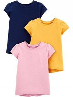 Simple Joys by Carter's 3-Pack Solid Short-Sleeve Tee Infant-and-Toddler-t-Shirts, Marineblau/Pink/Gold, 12 Months, 3er-Pack von Simple Joys by Carter's