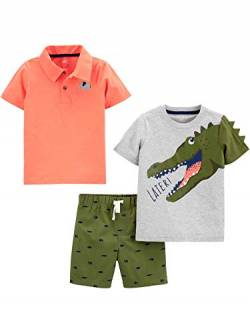 Simple Joys by Carter's 3-Piece Playwear Infant-and-Toddler-Shorts-Clothing-Sets, Alligator/Elefant, 12 Months, 3er-Pack von Simple Joys by Carter's