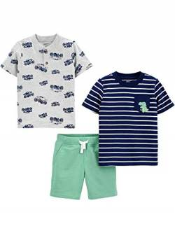 Simple Joys by Carter's 3-Piece Playwear Infant-and-Toddler-Shorts-Clothing-Sets, Dinosaurier/Trucks, 12 Months, 3er-Pack von Simple Joys by Carter's