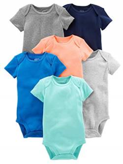 Simple Joys by Carter's Baby Jungen Strampler kurzärmlig 6er Pack ,Einfarbig ,Preemie von Simple Joys by Carter's