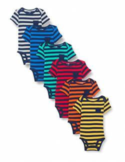 Simple Joys by Carter's Baby Jungen Strampler kurzärmlig 6er Pack ,Gestreift ,0-3 Months von Simple Joys by Carter's