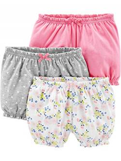 Simple Joys by Carter's Baby Mädchen 3er-Pack Bloomer Shorts ,Pink/Grey/Floral ,US NB (EU 56-62) von Simple Joys by Carter's