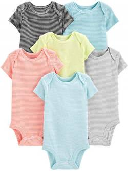 Simple Joys by Carter's Baby Strampler, kurzärmlig, 6er-Pack ,Gestreift ,Preemie von Simple Joys by Carter's