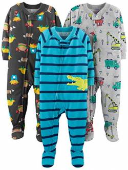 Simple Joys by Carter's Baby und Kleinkind Jungen 3er-Pack Lose Fit Polyester Jersey ,Food/Trucks/Alligator ,18 Months von Simple Joys by Carter's