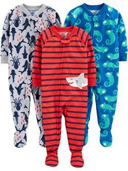 Simple Joys by Carter's Baby und Kleinkind Jungen 3er-Pack Lose Fit Polyester Jersey ,Iguana/Sea Creatures/Shark ,18 Months von Simple Joys by Carter's