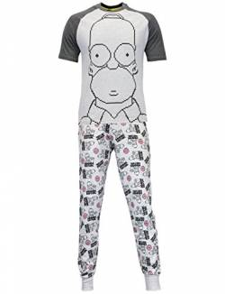 Simpson Herren Homer Simpson Schlafanzüge XX-Large von The Simpsons