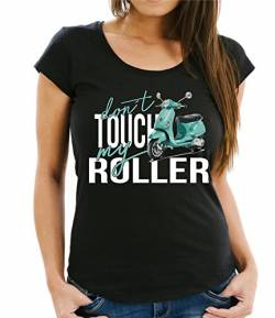 Siviwonder Women T-Shirt - Roller Moped - Dont Touch My - Fun schwarz L - 38 von Siviwonder
