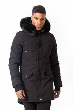 Sixth June Herren Parka Anorak, Noir, S von Sixth June