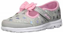 Skechers Baby Girl's 81162N Trainers, Grey (Grey/Pink), 4 UK 21 EU von Skechers