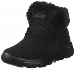 Skechers Damen On-the-go Joy Kurzschaft Stiefel, Schwarz(Black Suede/Trim Bbk), 35.5 EU von Skechers