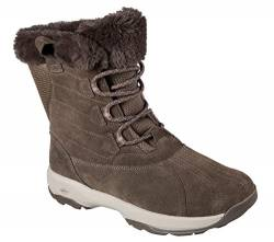 Skechers GOwalk Outdoors Chilly Womens Lace Up Mid Calf Boots Taupe 5.5 von Skechers