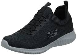 Skechers Men Elite Flex-Hartnell Trainers, Black (Black/Grey), 42 EU (8 UK) von Skechers