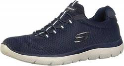 Skechers Herren Summits Slip On Sneaker, Blau (Navy Mesh/Trim NVY), 43 EU von Skechers