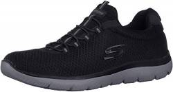 Skechers Men's Summits Trainers, Black (Black/Charcoal), 6.5 UK (40 EU) von Skechers