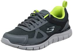 Skechers Men's TRACK BUCOLO Trainers, Charcoal/Lime, 10 UK 45 EU von Skechers
