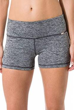 Skiny Damen Shorts Yoga & Relax Hot Pants, Mehrfarbig (Black Grey Melange 5781), 38 von Skiny