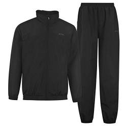 Slazenger Herren Trainingsanzug Langarm Trainingsjacke Trainingshose Set Schwarz XXXX Large von Slazenger