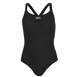 "Slazenger Womens X Back Swimsuit - Black / Charcoal / Dark Pink - 40"" von Slazenger"