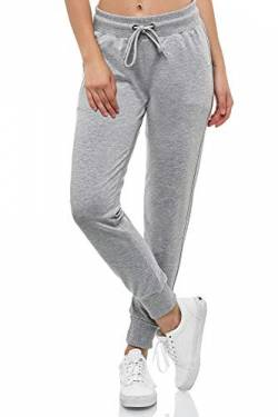 Smith & Solo Women's Jogging Bottoms - Sports Trousers Women Cotton | Sweatpants Slim Fit Casual Trousers Long | Training Trousers Fitness High Waist - Jogger Running Trousers Modern - Grey - Large von Smith & Solo
