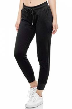 Smith & Solo Women's Jogging Bottoms - Sports Trousers Women Cotton | Sweatpants Slim Fit Casual Trousers Long | Training Trousers Fitness High Waist - Jogger Running Trousers Modern - Black - Medium von Smith & Solo
