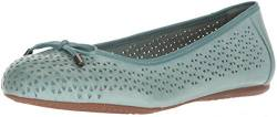 SoftWalk Women's Napa Laser Ballet Flat, Aqua, 7.0 N US von Softwalk