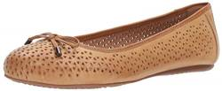 SoftWalk Women's Napa Laser Ballet Flat, tan, 6.0 2W US von Softwalk