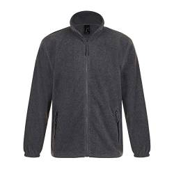 SOLS Herren Outdoor Fleece Jacke North (2XL) (Grau Marl) von Sols