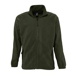 SOLS Herren Outdoor Fleece Jacke North (3XL) (Army) von Sols