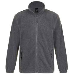 SOLS Herren Outdoor Fleece Jacke North (3XL) (Grau Marl) von Sols