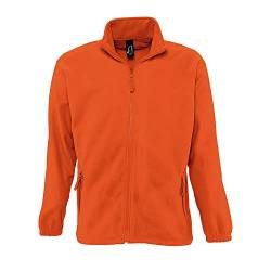 SOLS Herren Outdoor Fleece Jacke North (L) (Neon Orange) von Sols