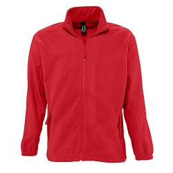 SOLS Herren Outdoor Fleece Jacke North (Medium) (Rot) von Sols