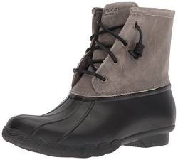 Sperry Damen Saltwater Mode-Stiefel, Black/Grey, 40.5 EU von Sperry