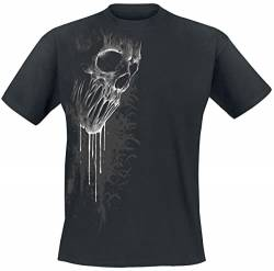 Spiral Direct Damen Bat Curse-Front Print T-Shirt, Schwarz (Black 001), 38 (Herstellergröße: Medium) von Spiral Direct