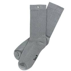 Spirit of 76 the Basics Lo Grey | Halbhohe Retro Crew Socken Grau | stylische Unisex Sport Strümpfe Size M (39-42) von Spirit of 76