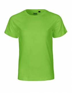 Neutral Kids Short Sleeved T-Shirt, 100% Bio-Baumwolle. Fairtrade, Oeko-Tex und Ecolabel Zertifiziert, Textilfarbe: Limette, Gr.: 104 von Spirit of Isis