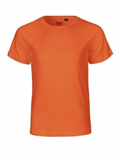 Neutral Kids Short Sleeved T-Shirt, 100% Bio-Baumwolle. Fairtrade, Oeko-Tex und Ecolabel Zertifiziert, Textilfarbe: orange, Gr.: 152 von Spirit of Isis