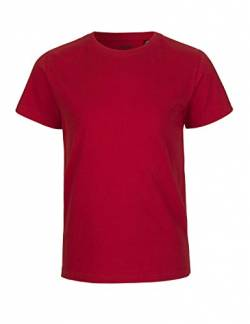 Neutral Kids Short Sleeved T-Shirt, 100% Bio-Baumwolle. Fairtrade, Oeko-Tex und Ecolabel Zertifiziert, Textilfarbe: rot, Gr.: 116 von Spirit of Isis