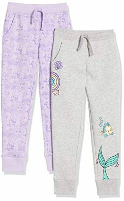 Spotted Zebra Disney Star Wars Marvel Frozen Princess Fleece Jogger Sweatpants pants, 2er-pack Prinzessin Ariel, 2T (EU 92-98) von Spotted Zebra