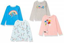 Spotted Zebra Disney Star Wars Marvel Frozen Princess Long-Sleeve Fashion-t-Shirts, 4er-Pack Minnie Rainbow, 2 Jahre von Spotted Zebra