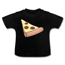 Pizzastück Pizza Partnerlook Baby T-Shirt, 18-24 Monate, Schwarz von Spreadshirt