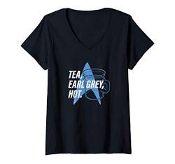 Damen Star Trek Next Generation Tea Earl Grey T-Shirt mit V-Ausschnitt von Star Trek