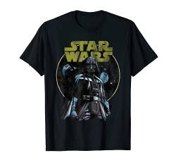 Star Wars Darth Vader Death Star and TIE Fighter T-Shirt von Star Wars