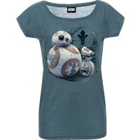 Star Wars Friendship Girl Loose Shirt blue-mel. von Star Wars