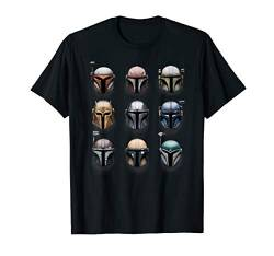Star Wars The Mandalorian Battle Worn Helmets T-Shirt von Star Wars