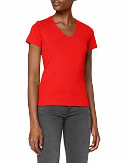 Stedman Apparel Damen Regular Fit T-Shirt Classic-T V-neck/ST2700, Rot - Scarlet Red, Gr. 40 (Herstellergröße: L) von Stedman Apparel