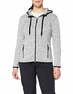 Stedman Apparel Damen Active Knit Fleece Jacket/ST5950 Sweatshirt, Grau-Hellgrau-meliert, 40 von Stedman Apparel