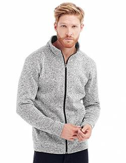 Stedman Apparel Herren Sweatshirt Active Knit Fleece Jacket/ST5850 Hellgrau-meliert L von Stedman Apparel