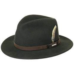Stetson Sardis VitaFelt Traveller Hut Damen/Herren - Wollfilzhut wasserabweisend - Filzhut Made in USA - Regenhut aus Wollfilz - VitaFelt-Hut Packable - Jägerhut Sommer/Winter grün S (54-55 cm) von Stetson