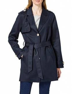 Street One Damen Trench Coat in Fake Velours deep Blue 38 von Street One