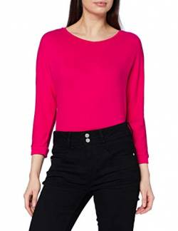 Street One Damen 314634 T-Shirt, Raspberry pink Melange, 38 von Street One